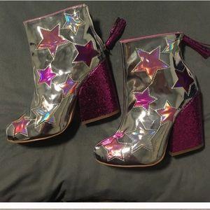 YRU Jem Star Glitter Boots